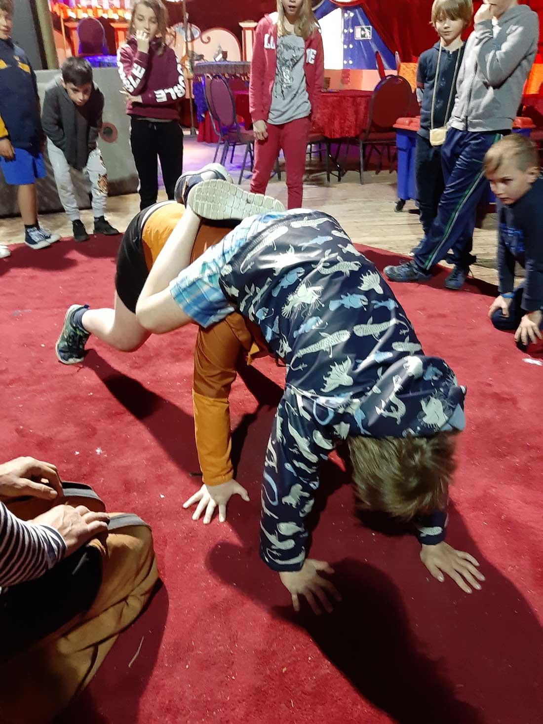 Circuskunstjes in het vierde leerjaar