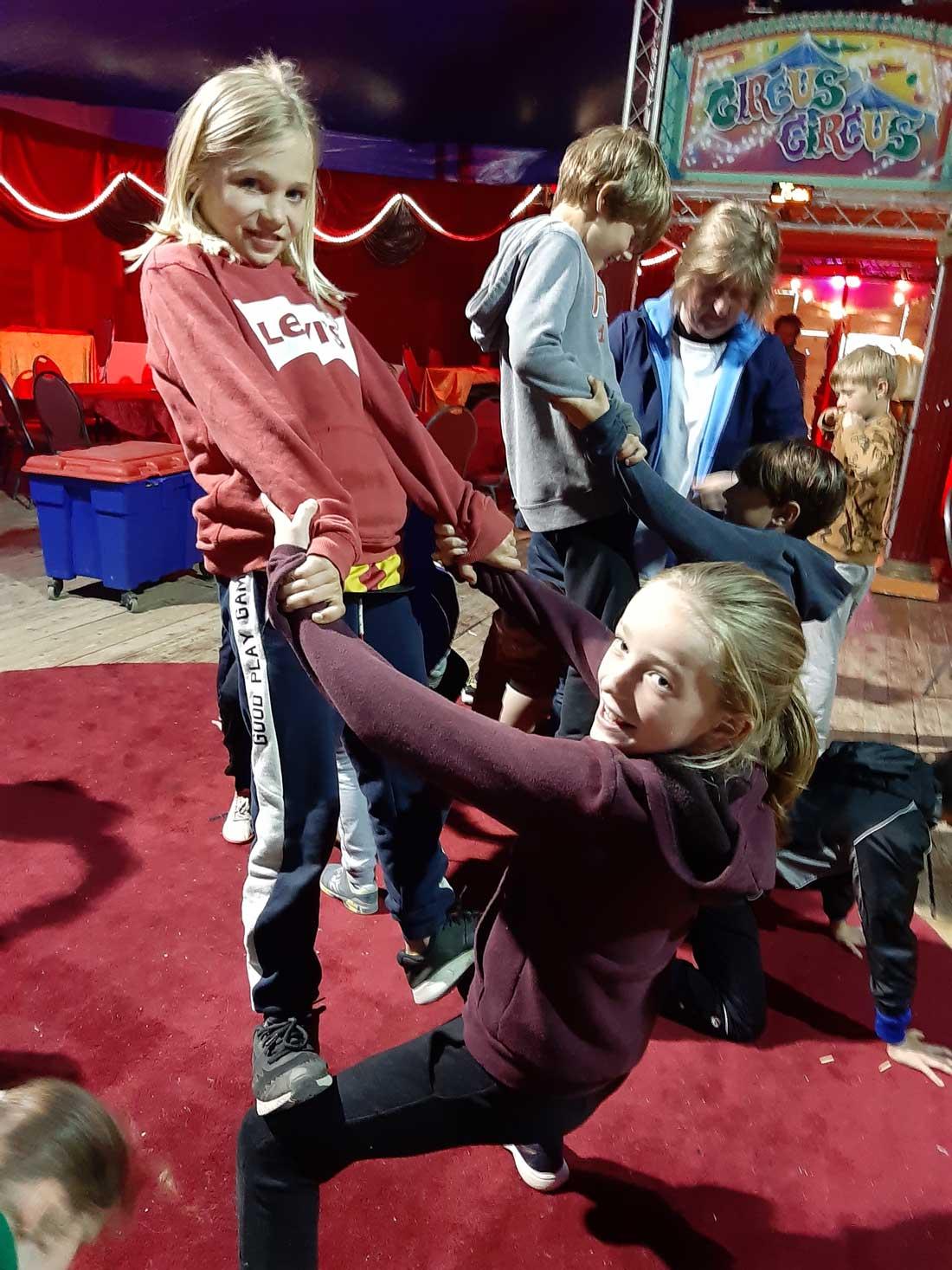 Sporten in het cirkus
