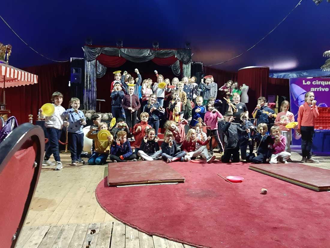 Sportdag in het cirkus