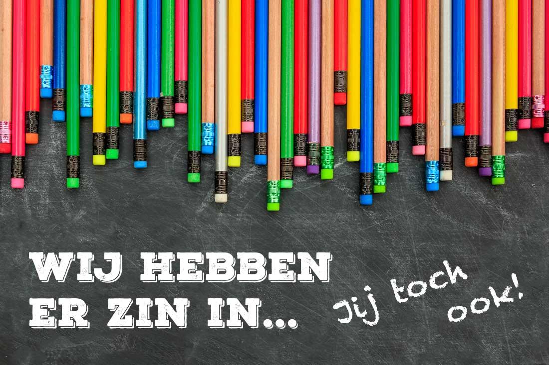 1 september, start schooljaar 2020. Wij hebben er zin in... Jij toch ook!