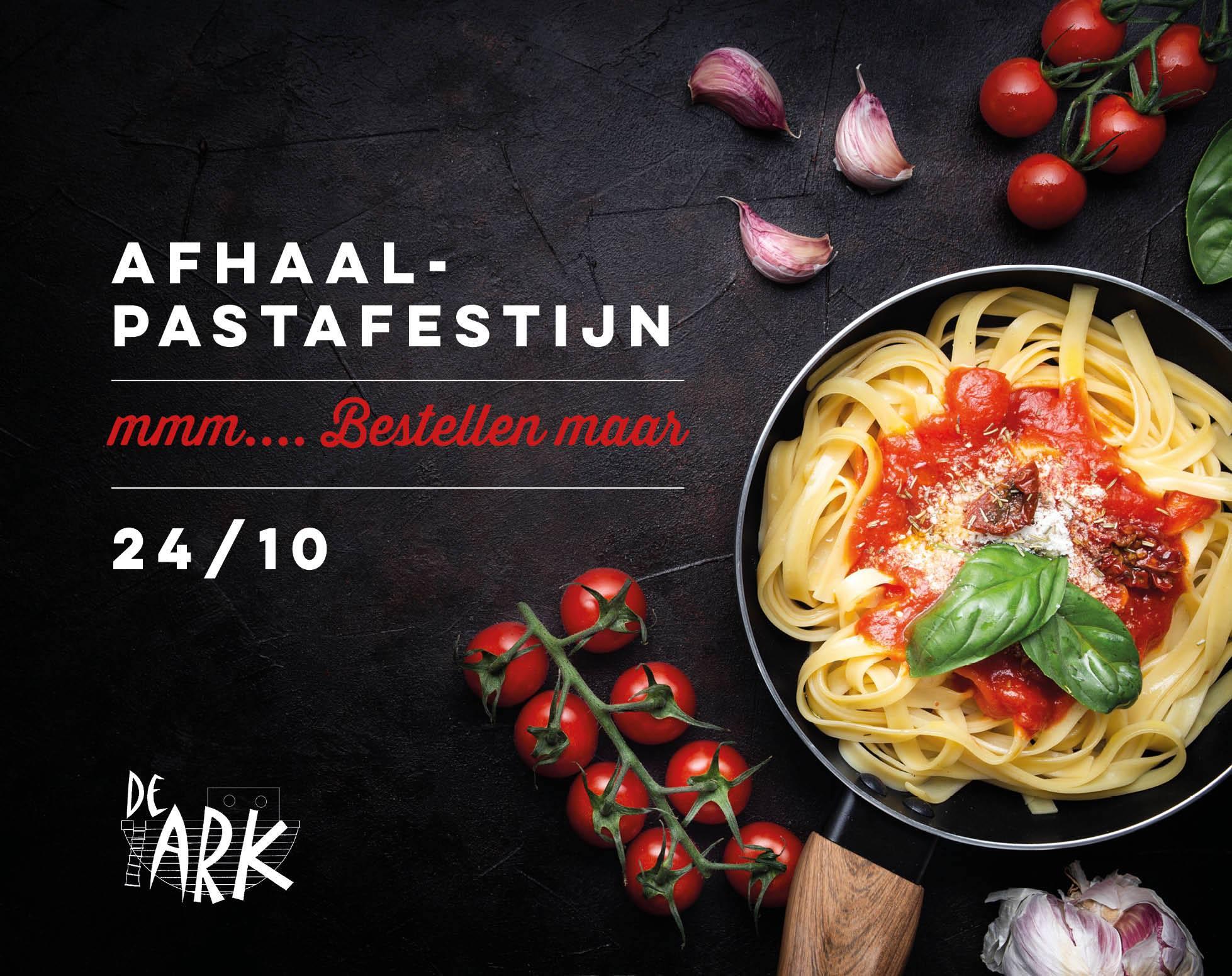 Afhaal-pastafestijn op De Ark - steun onze school door je vingers af te likken :)