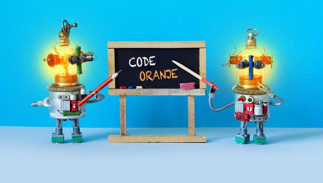 Corona-virus: code oranje